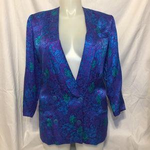 Vintage Oversized Silk Blazer